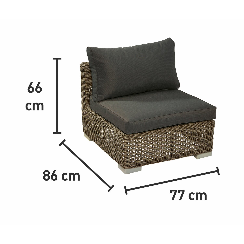 obi modulargruppe stratford sessel ohne armlehne nature dark kaufen bei obi. Black Bedroom Furniture Sets. Home Design Ideas