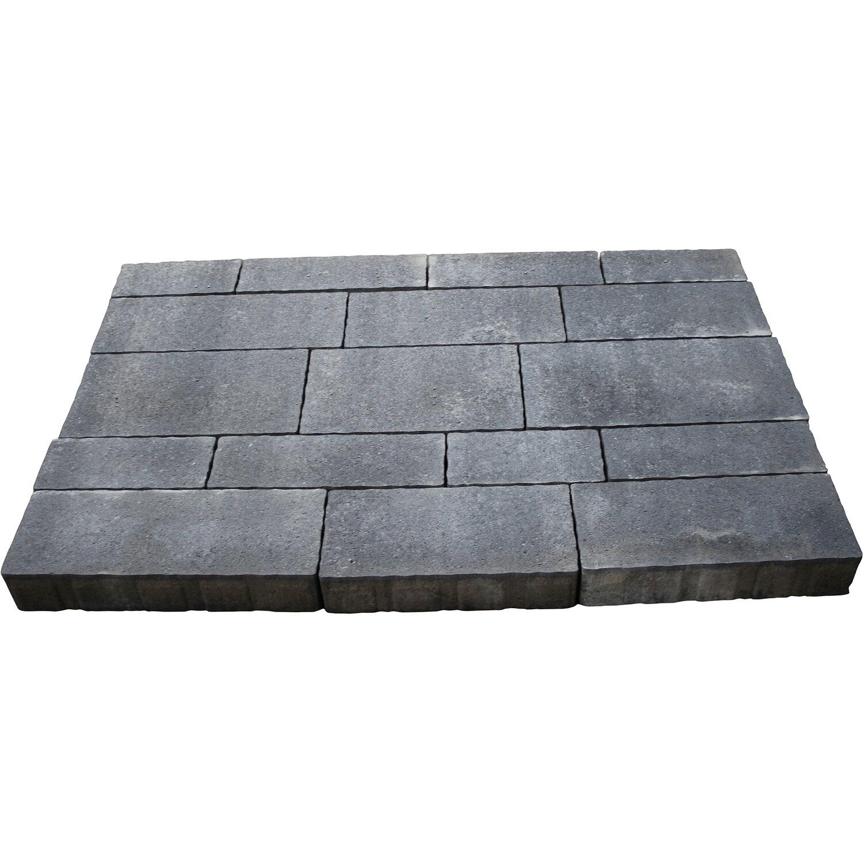 Mehrformat-Pflaster Beton Steinsystem Grau-Anthrazit