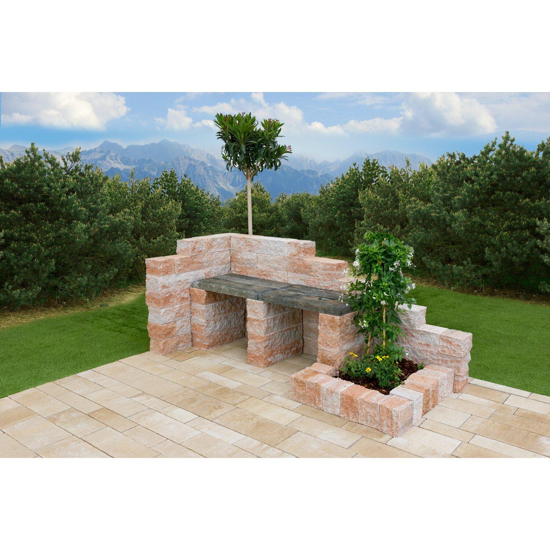 Mehrformat-Pflaster Beton Steinsystem Sandstein