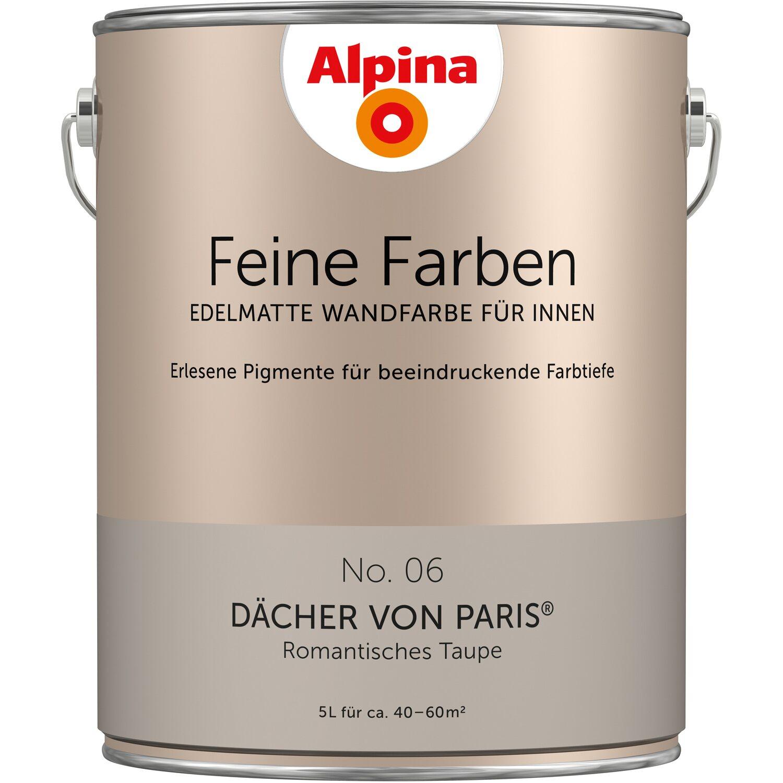 Farbpalette Wandfarben Braun Obi Gasflasche: Alpina Feine Farben No. 6 Dächer Von Paris Edelmatt 5 L