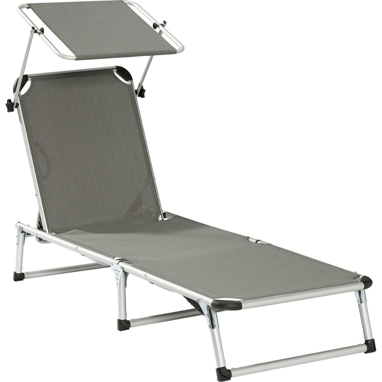 sonnenliege mit dach grau kaufen bei obi. Black Bedroom Furniture Sets. Home Design Ideas