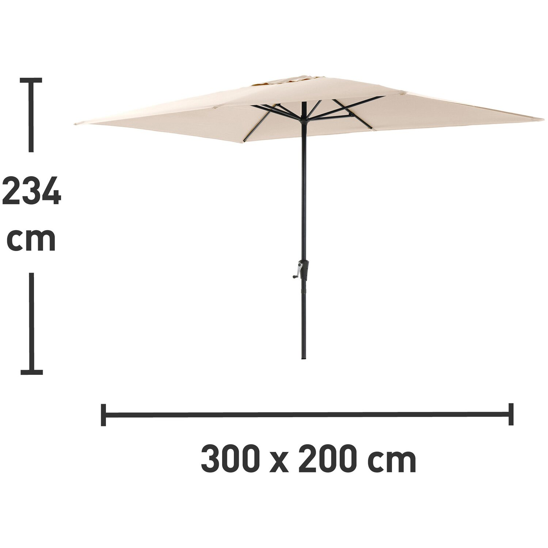 sonnenschirm rechteckig 200 x 300 cm