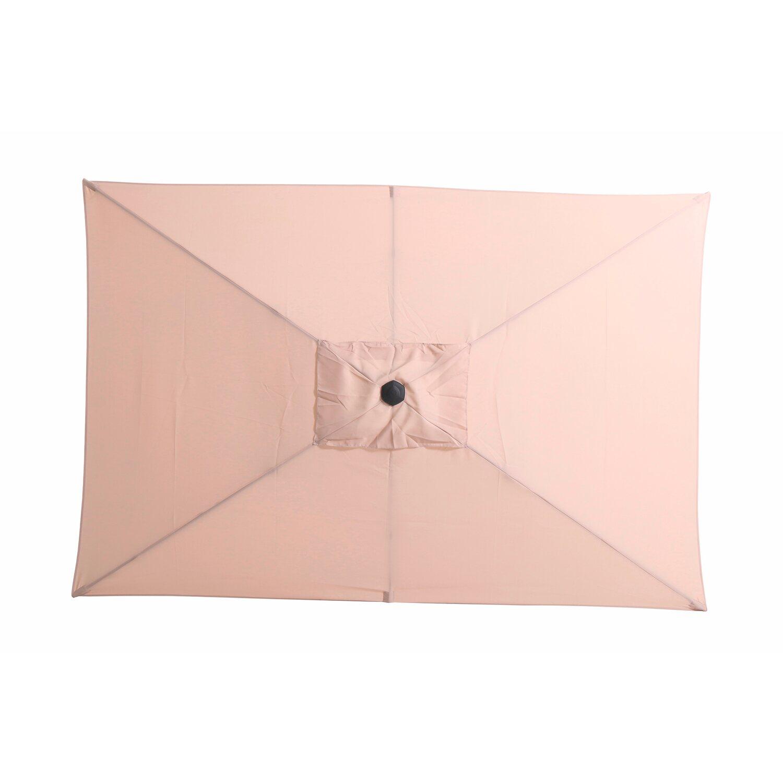 Obi Sonnenschirm Honolulu Eckig Beige 300 Cm X 200 Cm Kaufen Bei Obi