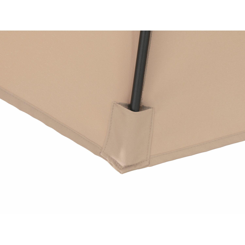 obi balkonschirm dolega halbrund beige 270 cm x 135 cm kaufen bei obi. Black Bedroom Furniture Sets. Home Design Ideas