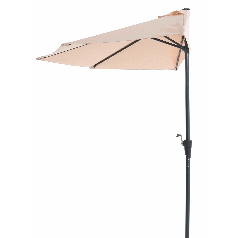 Sonnenschirmständer Halb-Schirm Ständer Halterung Balkon Sonnenschutz Anthrazit
