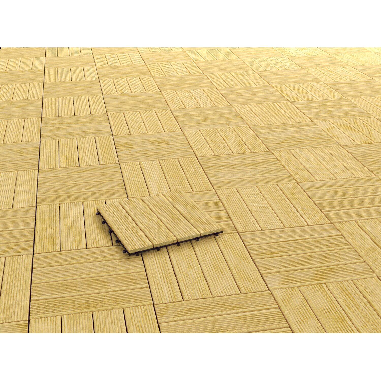 klick fliese holz naturfarben lasiert 4 st ck 30 cm x 30 cm x 2 5 cm kaufen bei obi. Black Bedroom Furniture Sets. Home Design Ideas