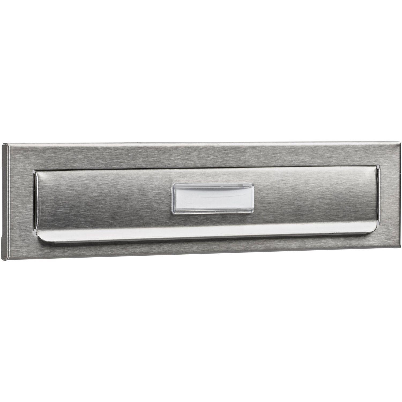 Edelstahl BURG-WÄCHTER Außen-Einwurfblende mit Namensschild Porta 791 Ni