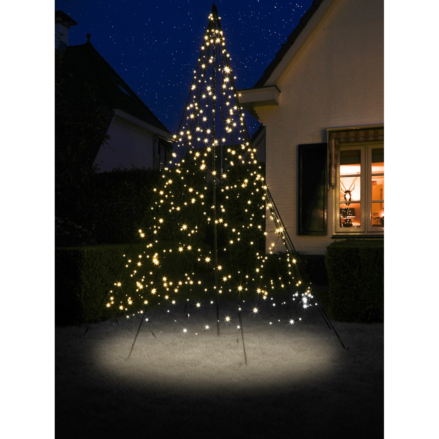fairybell led weihnachtsbaum 480 warmwei e leds 300 cm au en kaufen bei obi. Black Bedroom Furniture Sets. Home Design Ideas