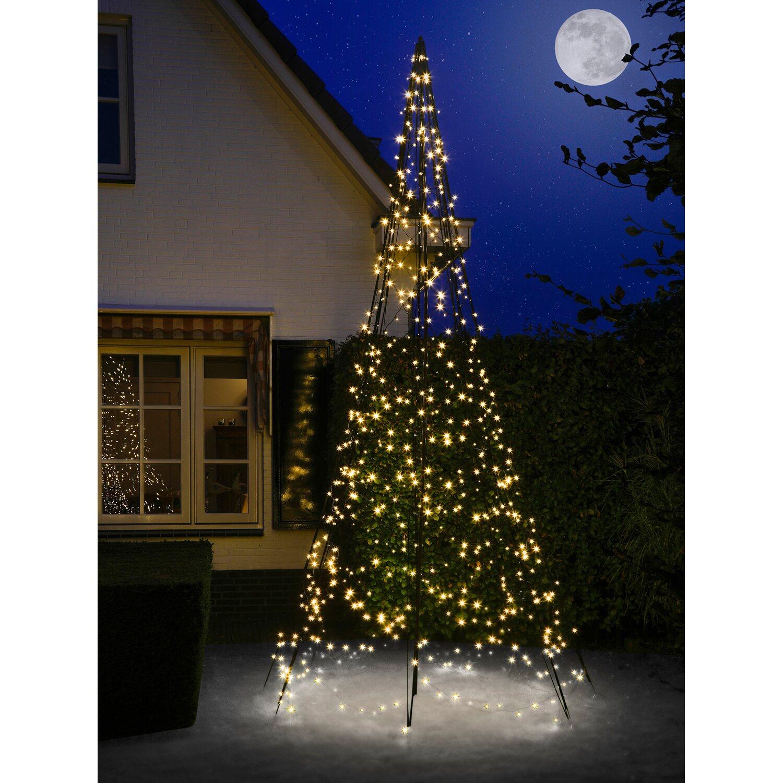 Lichterkette Weihnachtsbaum Außen.Fairybell Led Weihnachtsbaum 640 Warmweiße Leds 400 Cm Außen