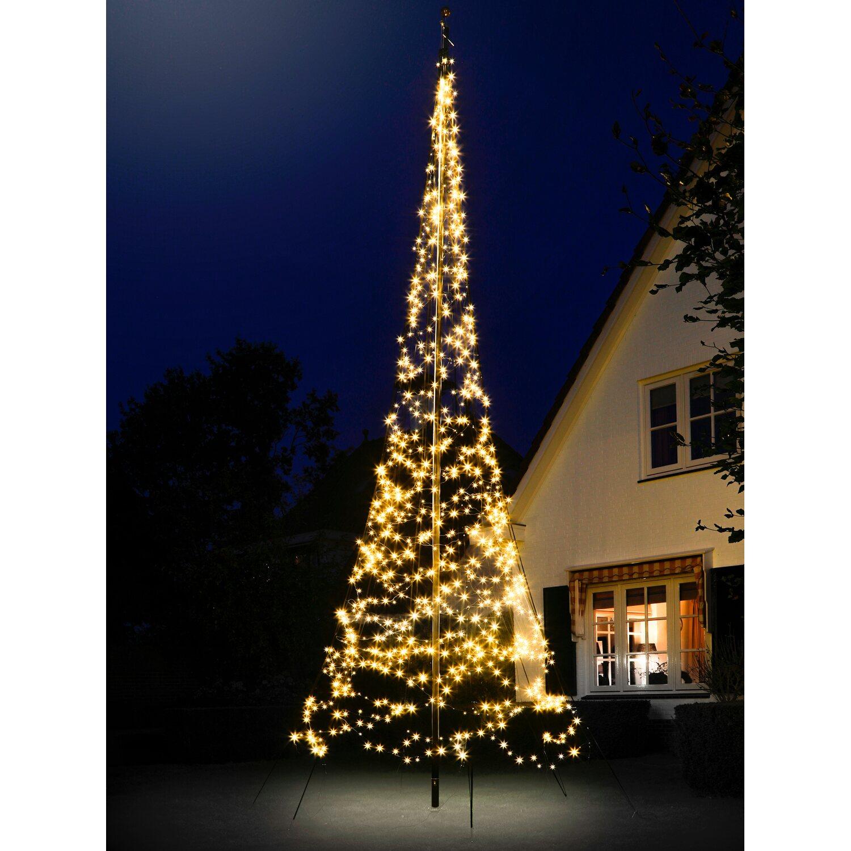 Bauhaus Baumarkt Weihnachtsbeleuchtung.Fairybell Led Weihnachtsbaum 900 Warmweiße Leds 600 Cm Außen