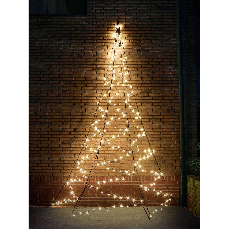 Weihnachtsbeleuchtung Fenster Günstig.Fairybell Led Weihnachtsbaum Wall 240 Warmweiße Leds 400 Cm Außen
