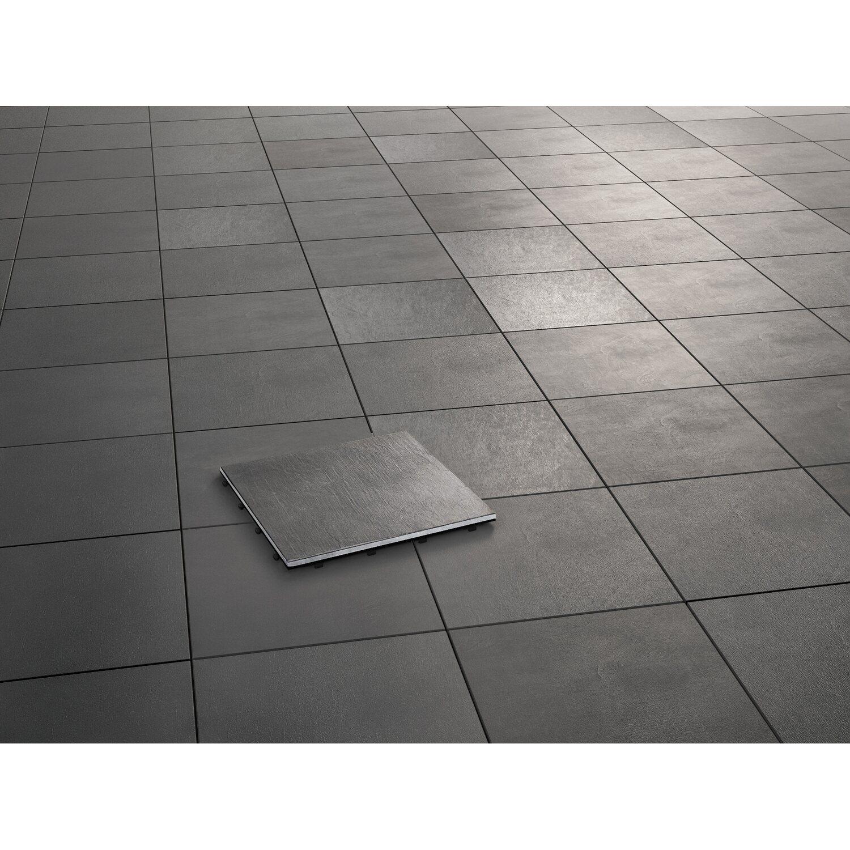 klickfliese-naturstein 1-unit schiefergrau 30 cm x 30 cm x 2,1 cm 4