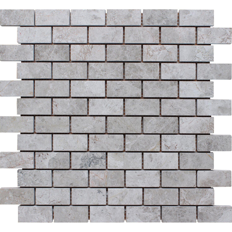 Mosaikmatte Naturstein Lemon Brick poliert 30,5 cm x 30,5 cm   Baumarkt > Wand und Decke > Fliesen   Grau   Mosaico Solo