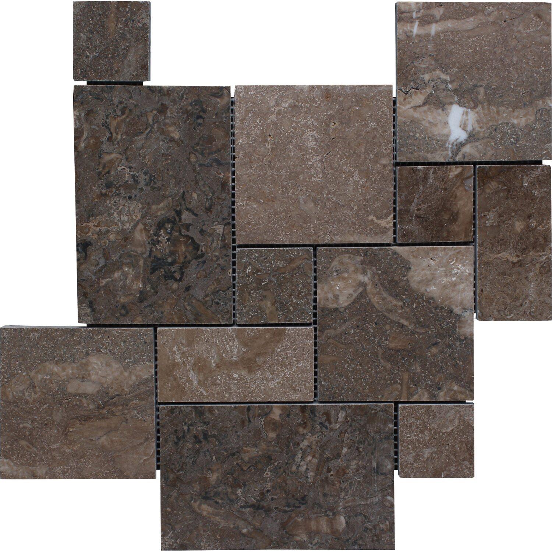 Mosaikmatte Naturstein Ociano poliert Verband 30,5 cm x 30,5 cm | Baumarkt > Wand und Decke > Fliesen | Braun/grau | Mosaico Solo