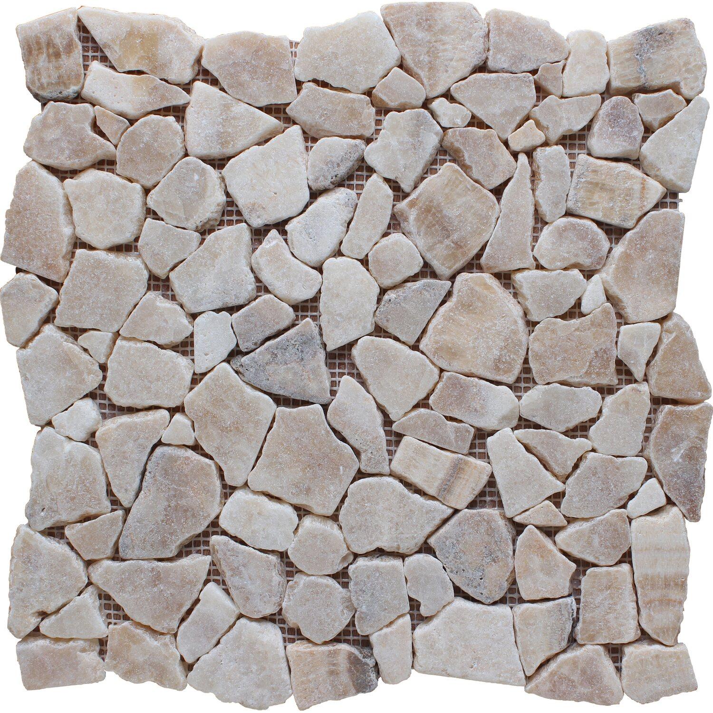 Mosaico Solo Bruchmosaikmatte Onyx 30,5 cm x 30,5 cm