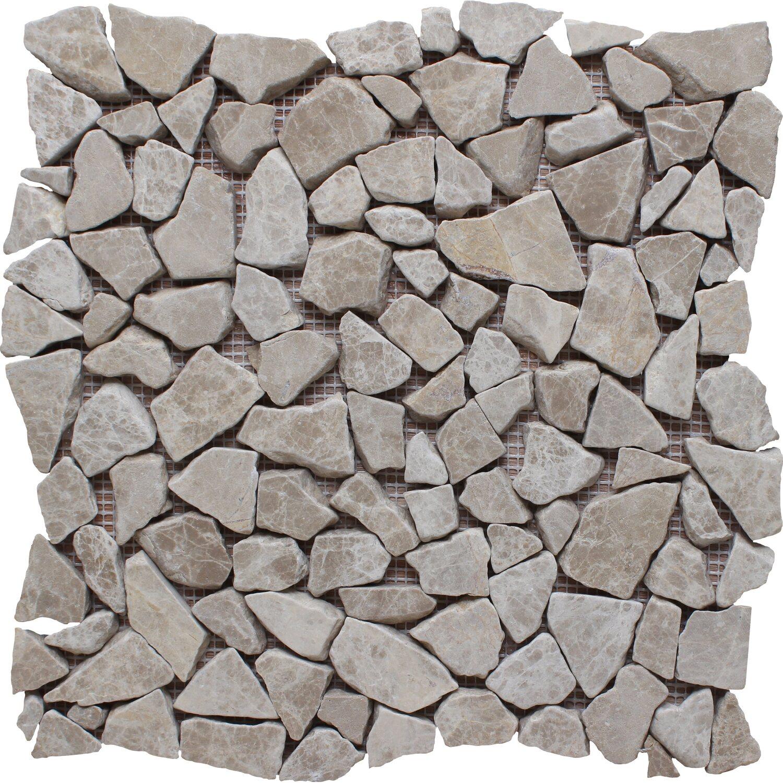 Mosaico Solo Bruchmosaikmatte Emparador Hell 30,5 cm x 30,5 cm