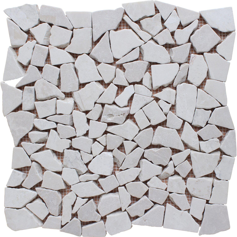 Mosaico Solo Bruchmosaikmatte Ice Beige 30,5 cm x 30,5 cm