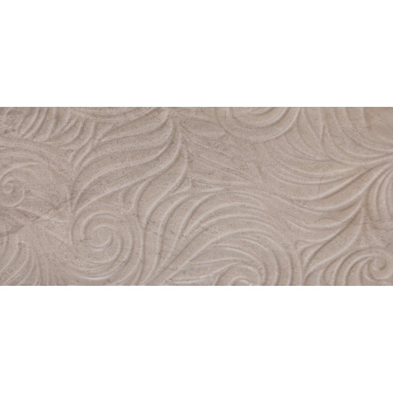 Sonstige Wandfliese Myra Relief Hellbraun 30 cm x 60 cm