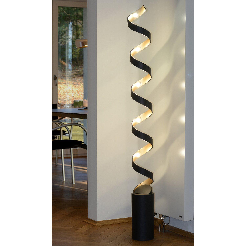 Luce Design Led Stehleuchte Helix Schwarz Gold 152 X 14 5 X 14 5