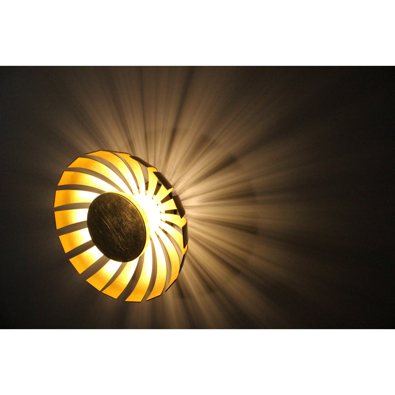 Luce Design Led Wandleuchte Flare Gold Eek A Kaufen Bei Obi