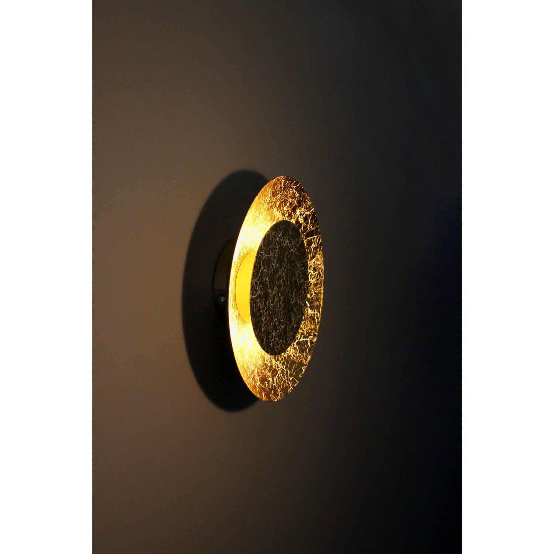 Luce Design Led Wandleuchte Disk Gold O 21 5 Cm Eek A Kaufen Bei Obi