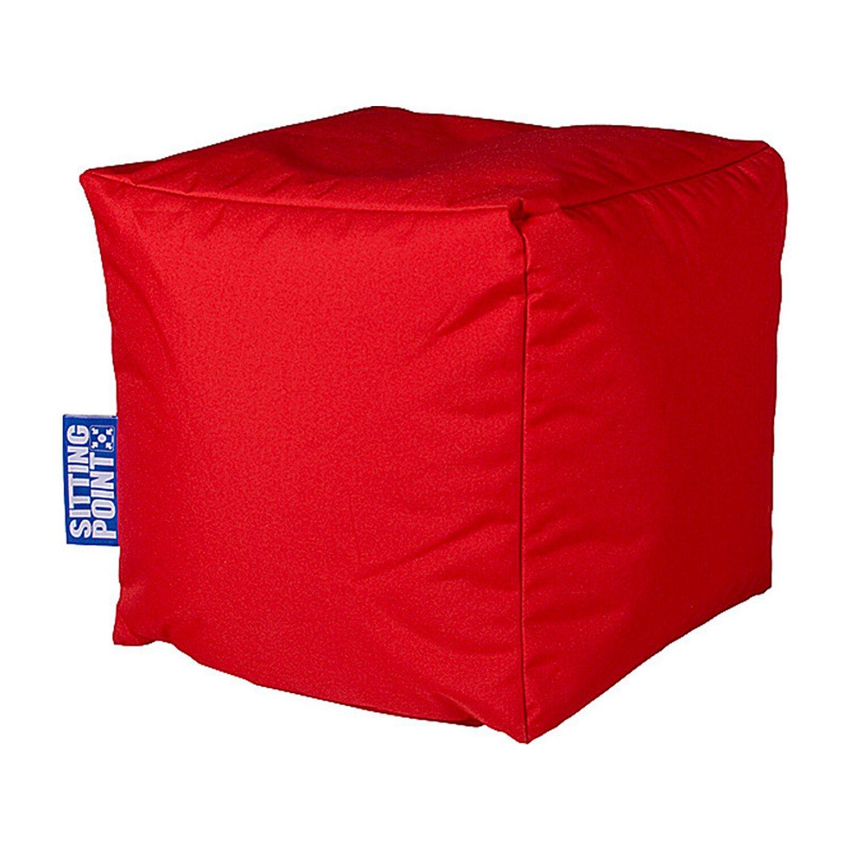 Sitting Point Sitzwürfel Sitting Point Rot | Wohnzimmer > Hocker & Poufs > Sitzwürfel | Polyester | Sitting Point