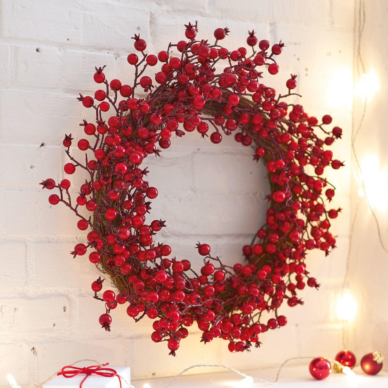deko kranz rote beere 11 cm x 43 cm kaufen bei obi. Black Bedroom Furniture Sets. Home Design Ideas