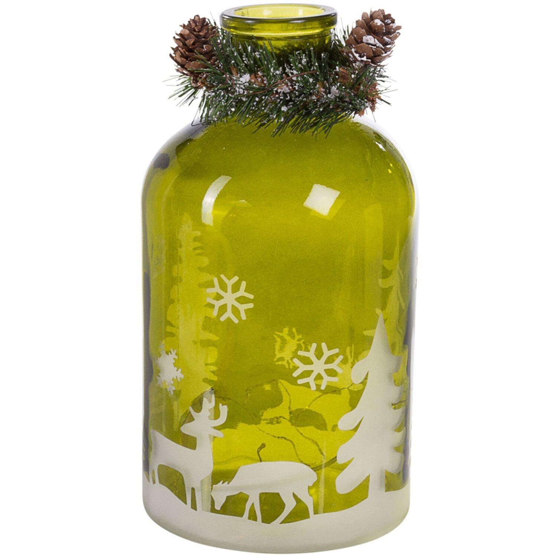 best of home LED Deko Glas Winterlandschaft