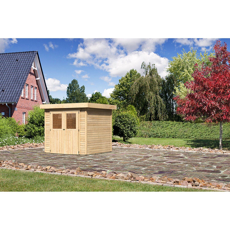 karibu modul holz gartenhaus raala 2 t r classic natur bxt 213x217cm kaufen bei obi. Black Bedroom Furniture Sets. Home Design Ideas