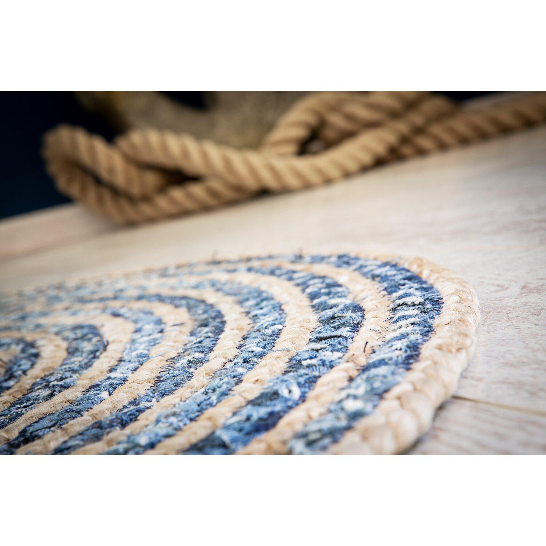 Andiamo Teppich Rondo Blau Natur O 80 Cm Kaufen Bei Obi