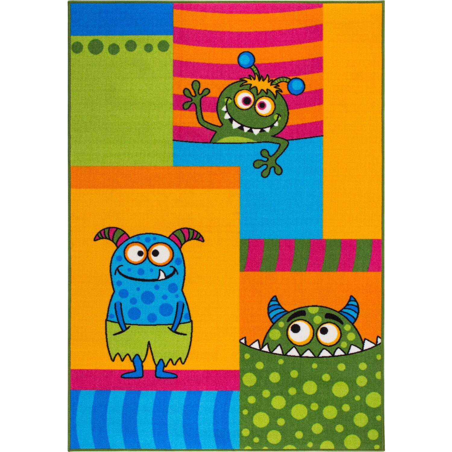 Andiamo Kinder-Teppich Monster 100 cm x 150 cm