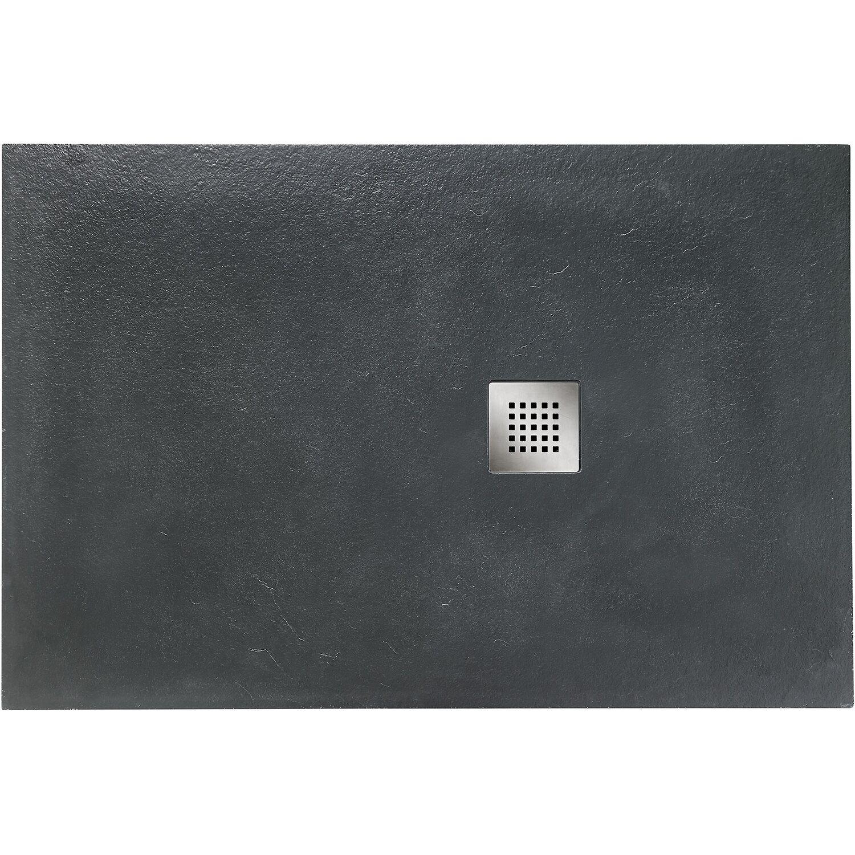 Ottofond Duschwanne Strato 100 cm x 90 cm x 2,4 cm Anthrazit | Bad > Duschen > Duschwannen | Grau | Ottofond