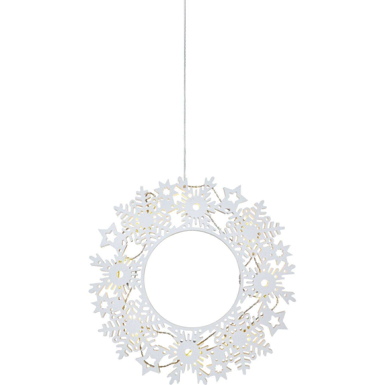 LED Deko-Kranz Prince Weiß 16 warmweiße LEDs | Dekoration > Dekopflanzen > Kränze | Weiß