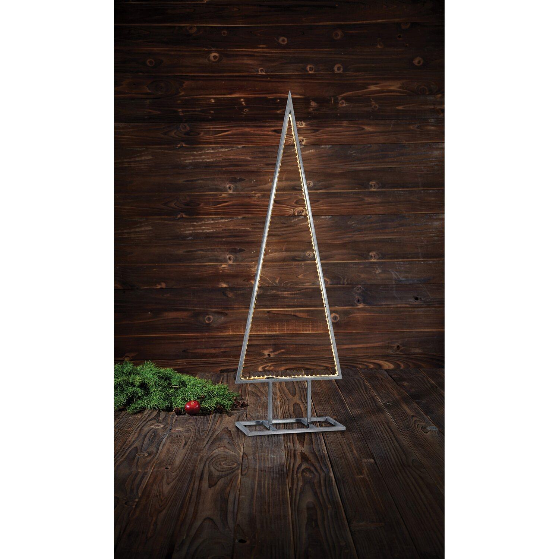 Weihnachtsbeleuchtung Figuren Led.Led Baum Stolt Metall Silber 150 Warmweiße Leds 120 Cm Innen Und Außen