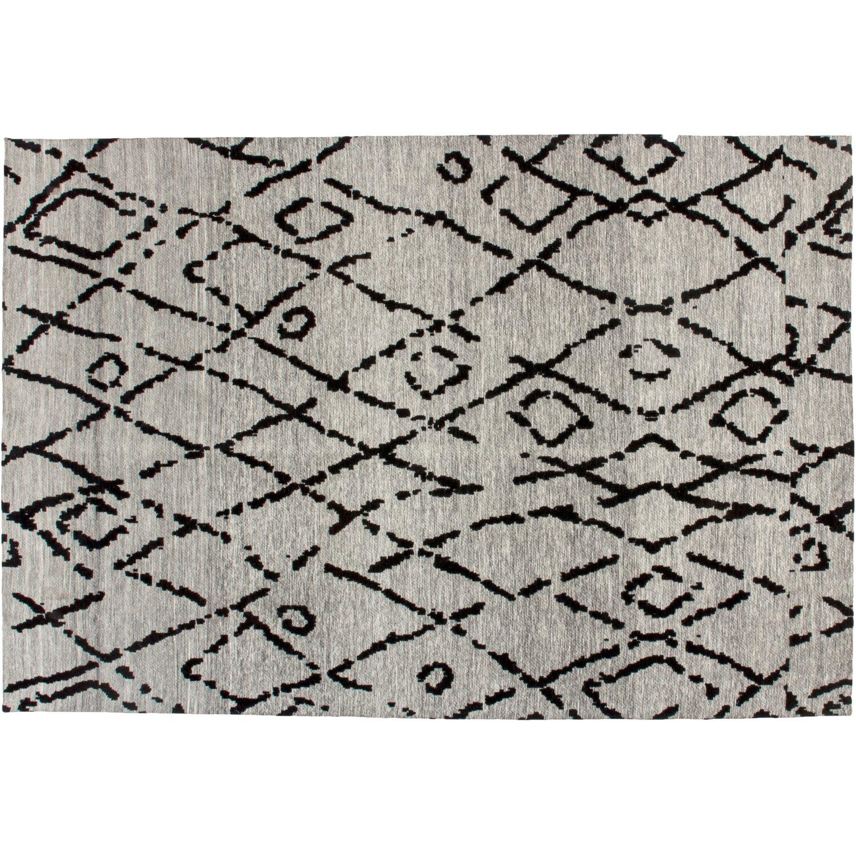 Kayoom Teppich River 110 Grau-Schwarz 120 cm x 170 cm   Heimtextilien > Teppiche > Sonstige-Teppiche   Muster   Jacquard   Kayoom