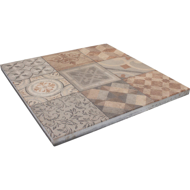 Mosaik Terrassenplatte Beton Salihari Beige
