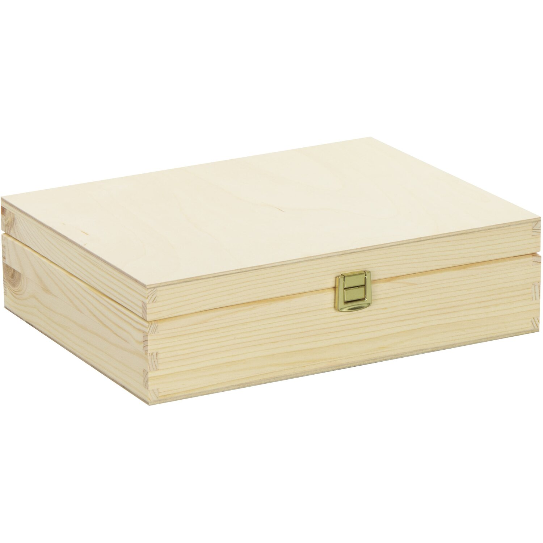 Holz Aufbewahrungsbox Holzkiste Decoupage stabiles 4 Schubladen-Regal kleines