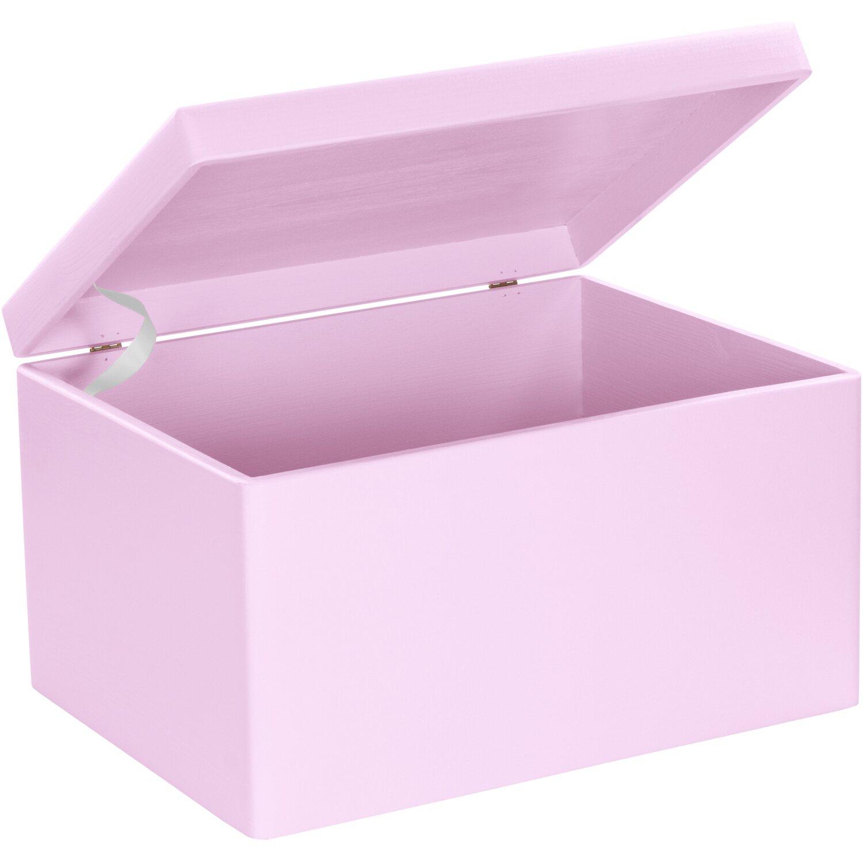 laublust holzkiste mit deckel rosa kiefer 40 cm x 30 cm x. Black Bedroom Furniture Sets. Home Design Ideas