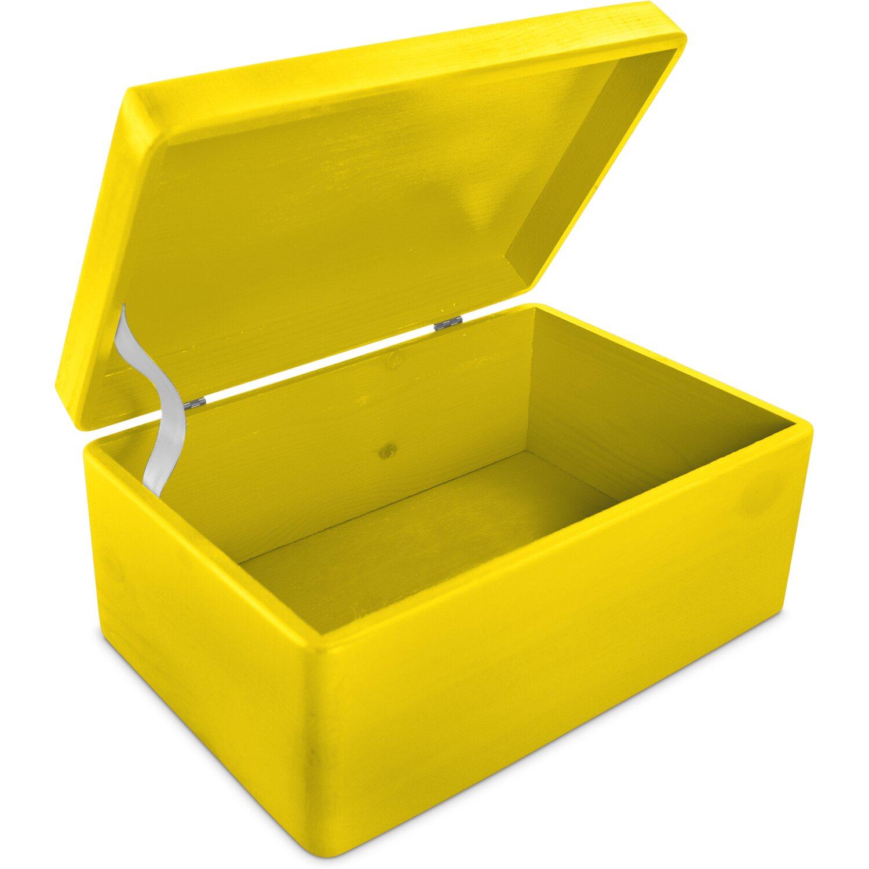 LAUBLUST Holzkiste mit Deckel Gelb Kiefer 30 cm x 20 cm x 14 cm FSC® Preisvergleich
