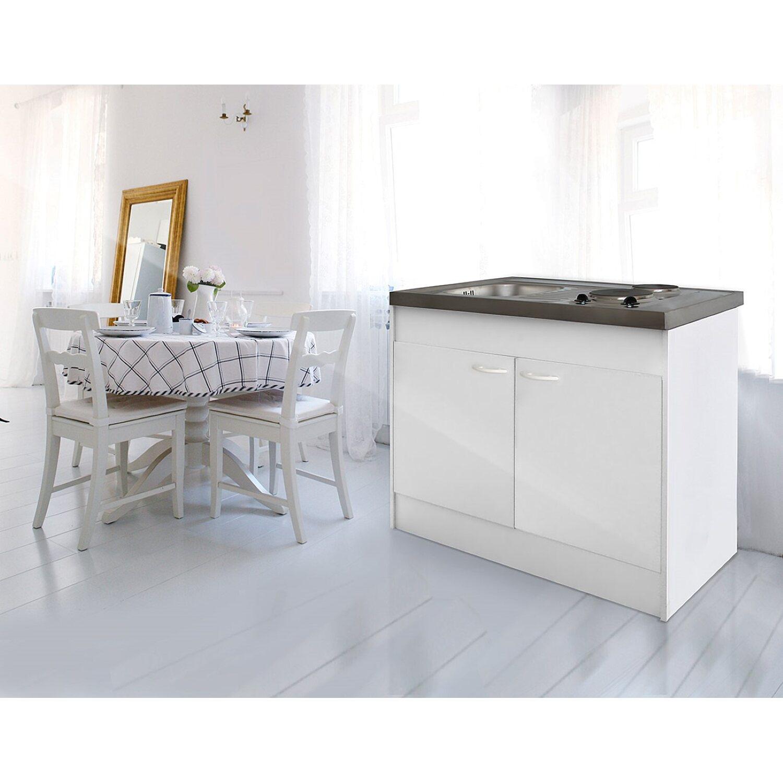 Respekta Miniküche Pantry100 ohne Kühlschrank Weiß kaufen bei OBI