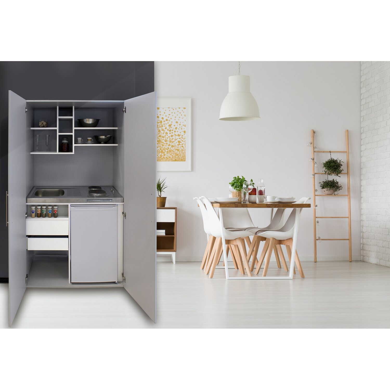 Respekta Schrankküche SKW Silbergrau   Küche und Esszimmer > Küchen > Miniküchen   Respekta