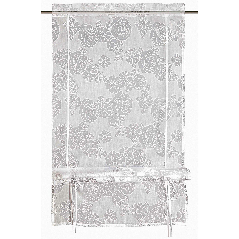 Bändchenrollo Weiß 120 cm x 60 cm | Heimtextilien > Jalousien und Rollos > Bändchenrollos | Weiß