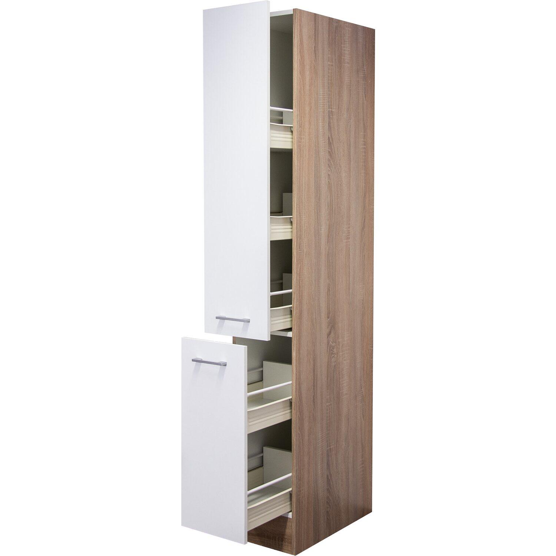 flex well classic apotheker hochschrank florida30 cm wei. Black Bedroom Furniture Sets. Home Design Ideas