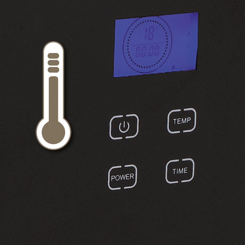 EINHELL GCH 2000 Glas-Konvektor Elektro Stand /& Wand-Heizung LCD-Display schwarz