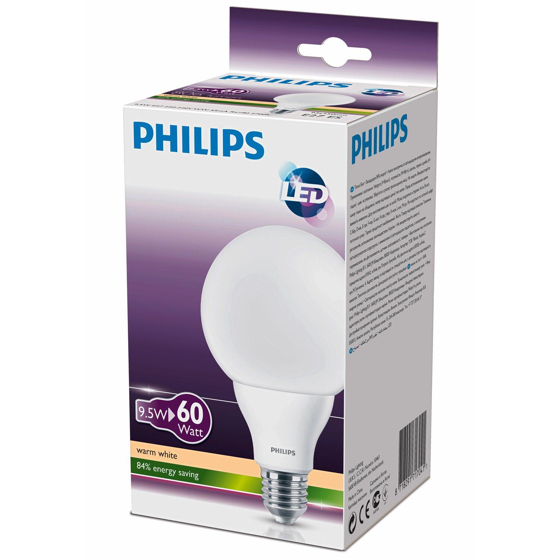 philips led leuchtmittel eek a globeform e27 9 5 w. Black Bedroom Furniture Sets. Home Design Ideas