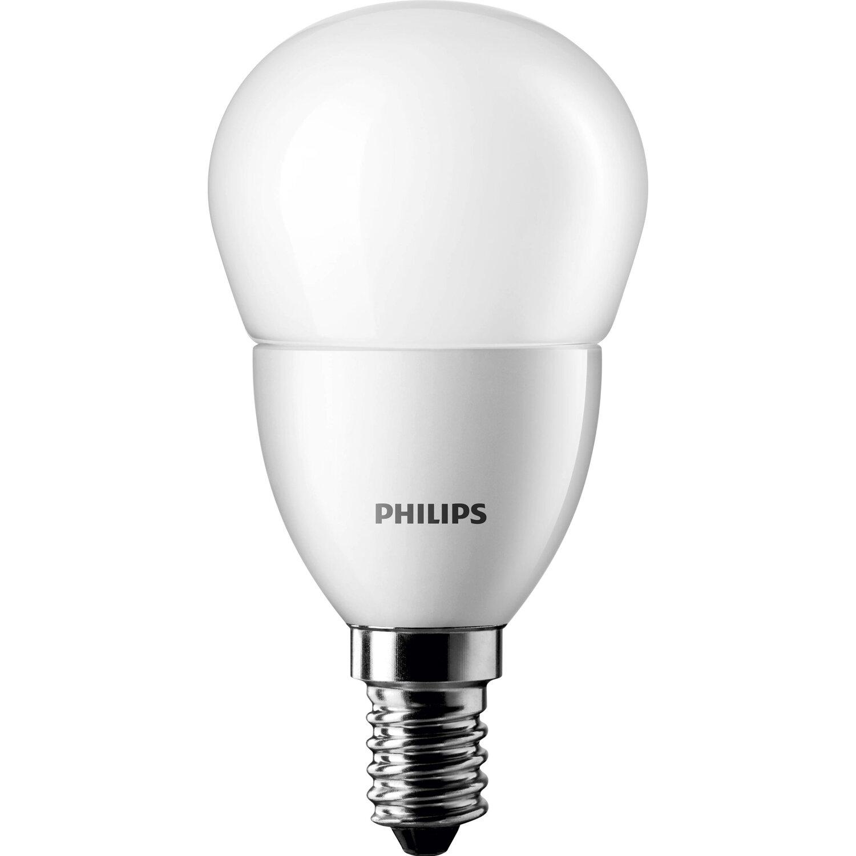 philips led lampe tropfenform e14 5 5 w 470 lm warmwei eek a kaufen bei obi. Black Bedroom Furniture Sets. Home Design Ideas