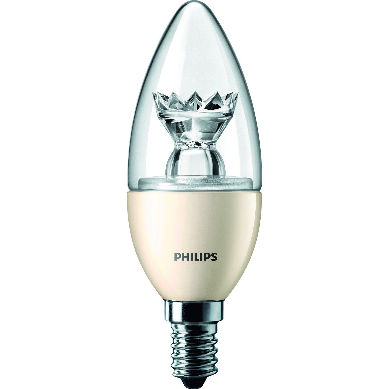 Philips LED-Lampe Kerzenform E14 / 6 W (470 lm) Warmweiß EEK: A ...