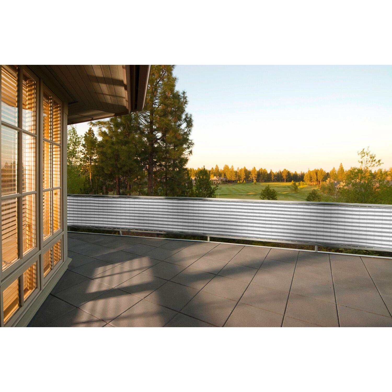 Floracord Balkonsichtschutz Grau Weiss 500 Cm X 90 Cm Kaufen Bei Obi