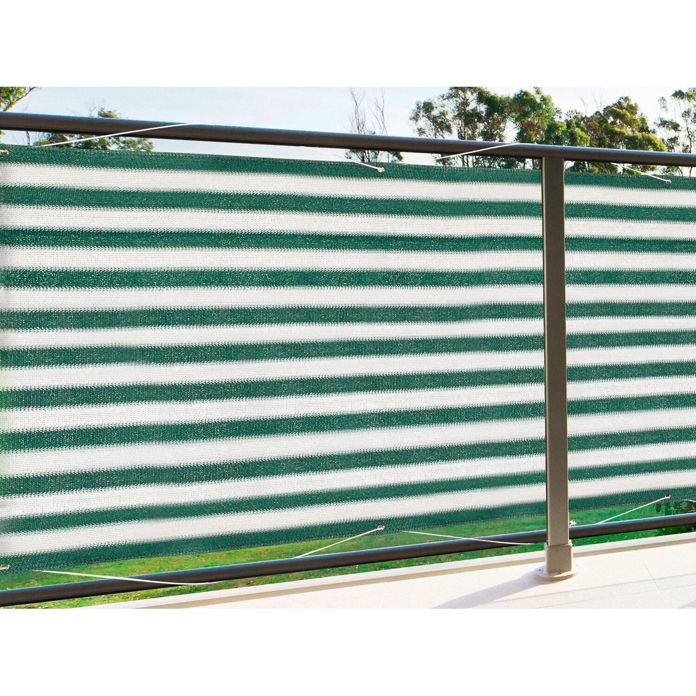 Floracord Balkonsichtschutz Grün-Weiß 500 cm x 90 cm | Garten > Balkon > Sichtschutz | Floracord