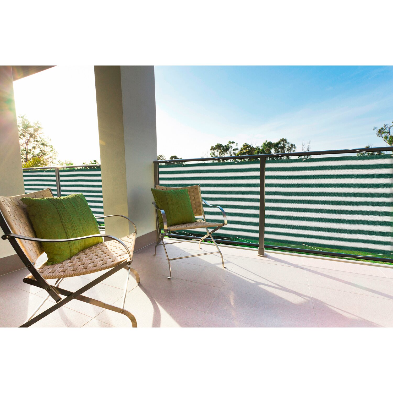 Floracord Balkonsichtschutz Grun Weiss 500 Cm X 90 Cm Kaufen Bei Obi